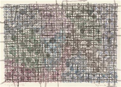 标09草图―B 6 镜框 设色纸本