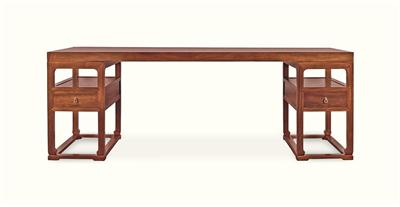 铁力木独板架几画桌