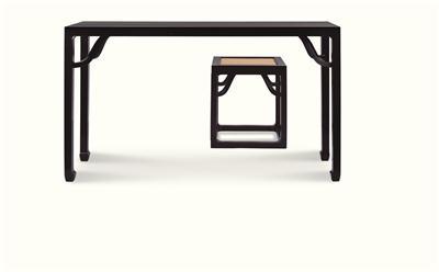 黑檀琴桌与凳