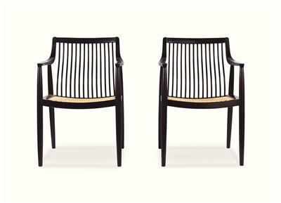 鸡翅木弯棂扶手椅 (四把)